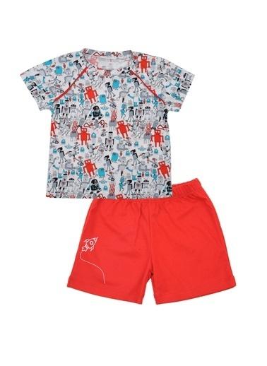 Mininio Kırmızı Robot T-Shirt ve şort Takım (6ay-4yaş) Kırmızı Robot T-Shirt ve şort Takım (6ay-4yaş) Kırmızı